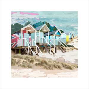 Claire Gill, Artist, Limited Edition prints, photomontage, digital art, seascapes, fine art prints, beach huts, Norfolk, Holkham