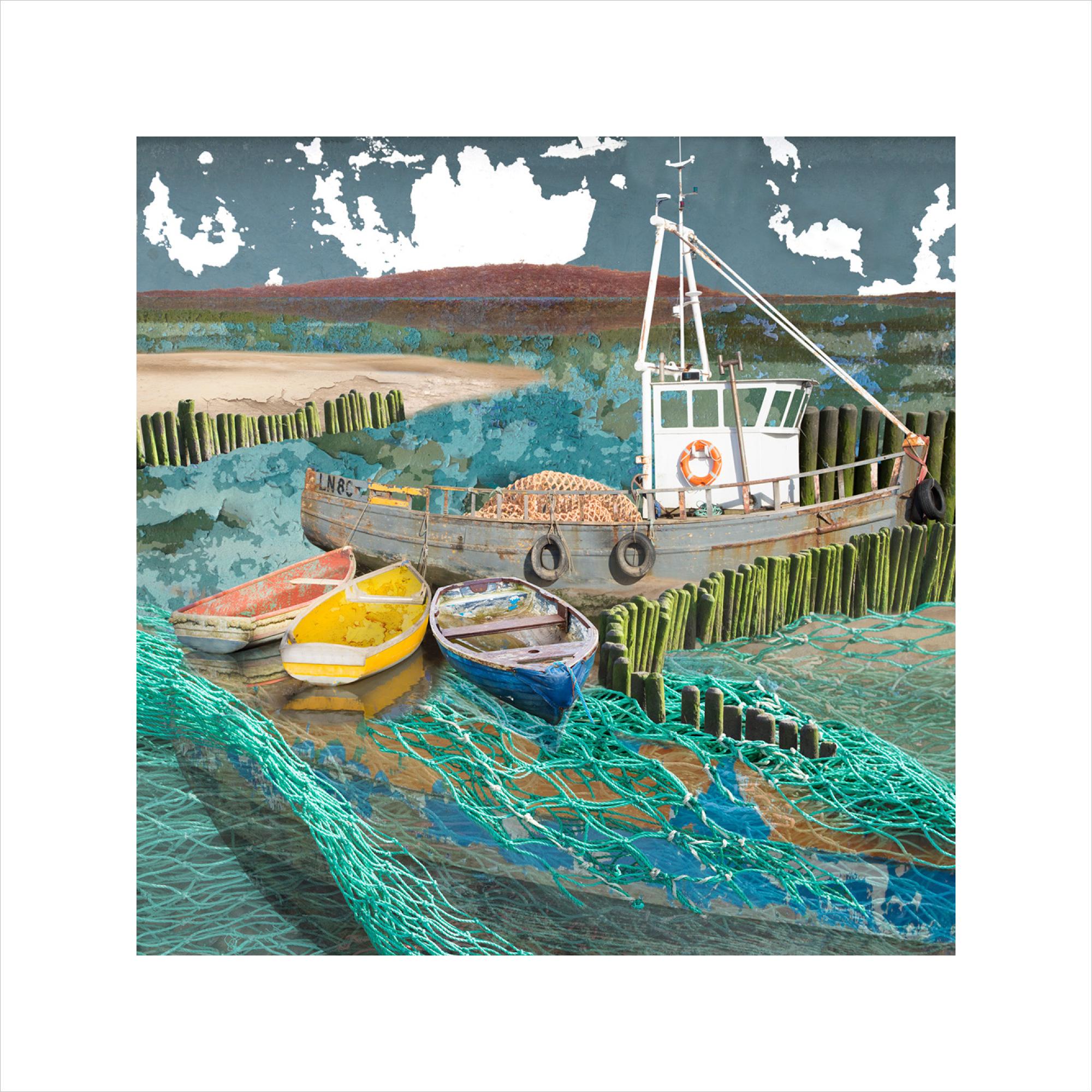 Claire Gill, Artist, Limited Edition prints, photomontage, digital art, seascapes, fine art prints, Staithe, Norfolk