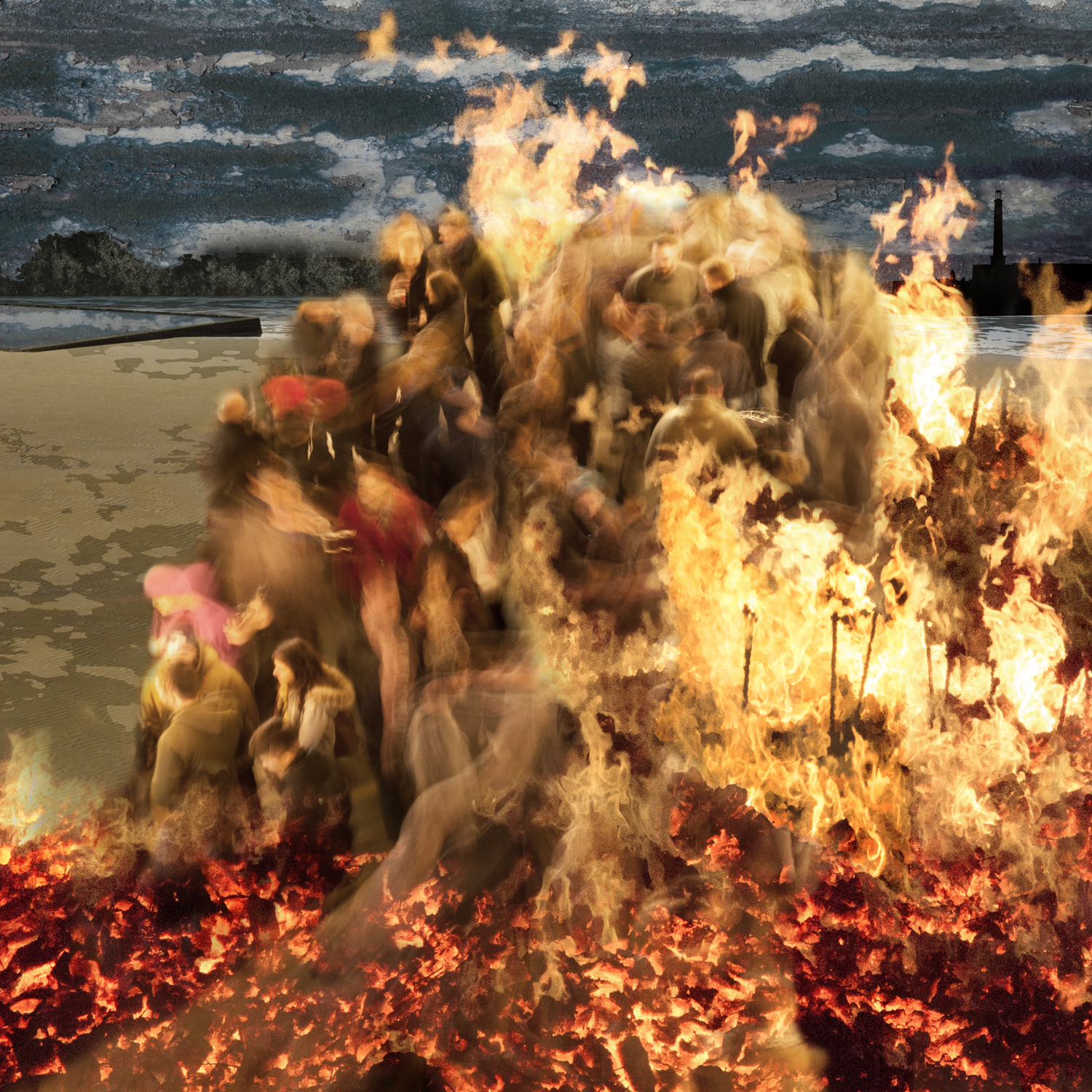 Claire Gill, Artist, Digital Photomontage, The Wasteland by TS Eliot, The Fire Sermon, On Margate Sands, Lombard Street Gallery, The Wasteland, TS Eliot, Photomontage, Limited Edition Print, Margate, hands, sea