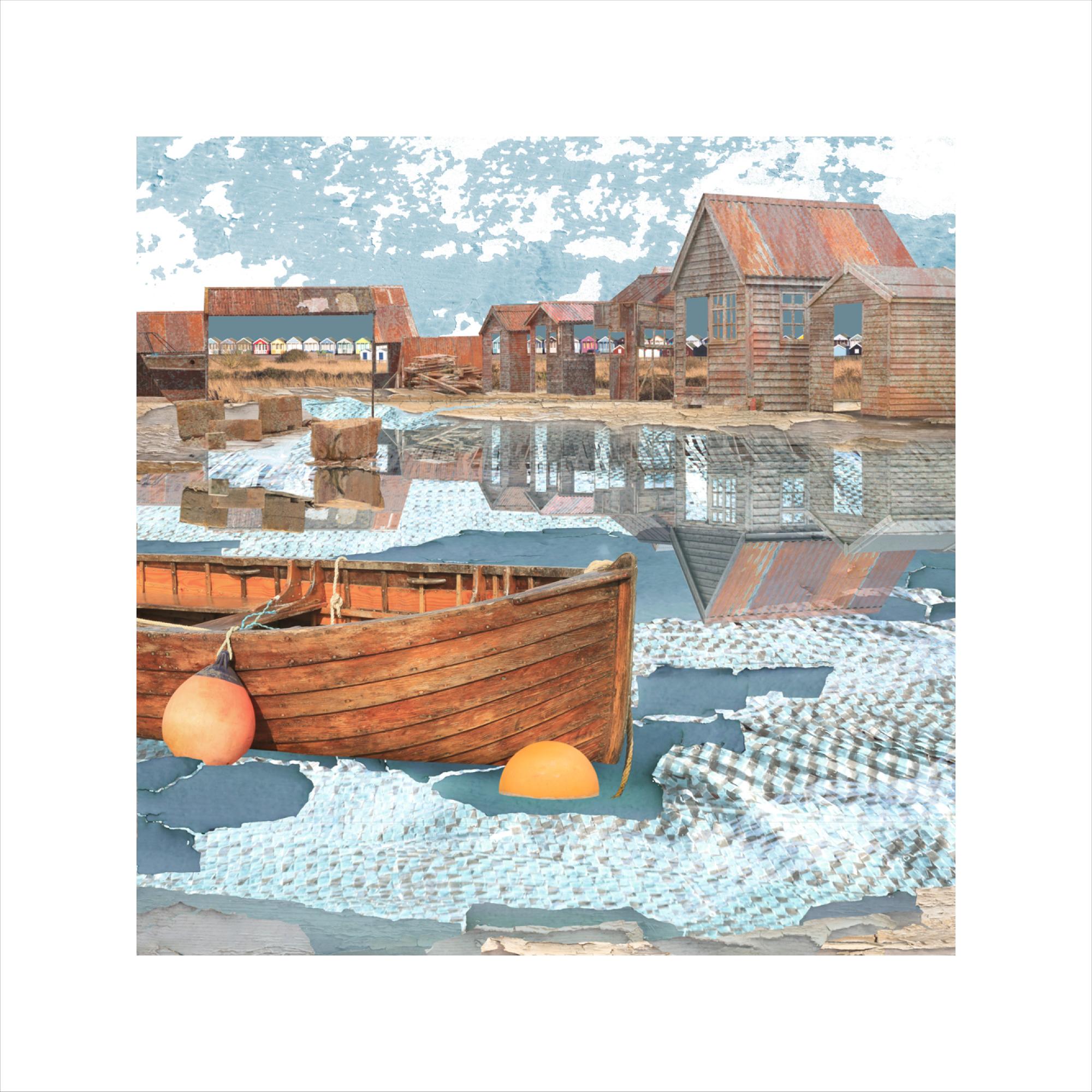 Claire Gill, Artist Seacsape 65 limited edition print, limited edition print, buy art, seascapes, coastal art, digital photomontage, Southwold