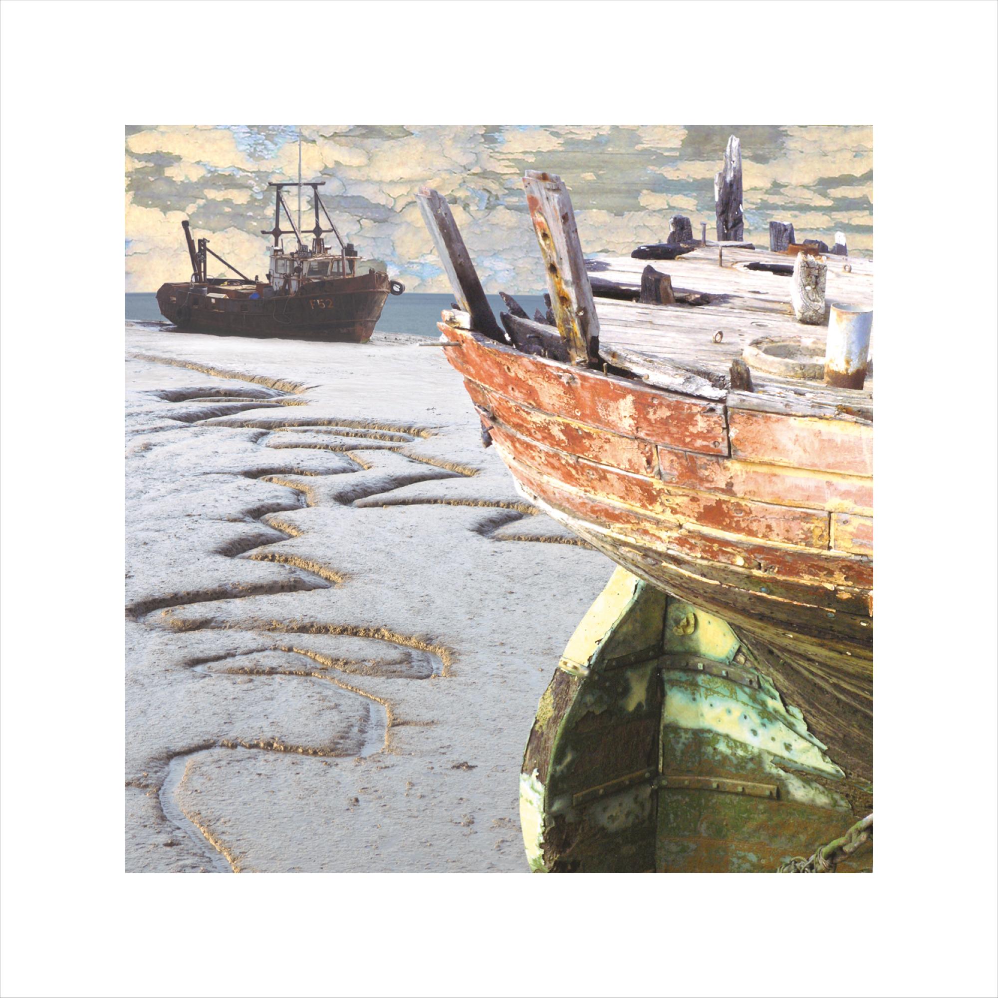 Claire Gill, Limited edition prints, digital photomontage, fine art prints, hahnemuhle, coastal art, Collect Art, seascape 2, Grays, Thames