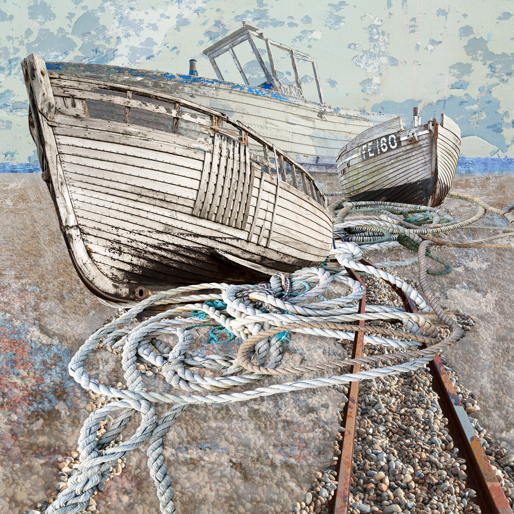 Claire Gill. fine art card, fine art greeting card, greeting card, seascapes, photomontage, coastal art, limited edition prints, seascape 60, Dungenes