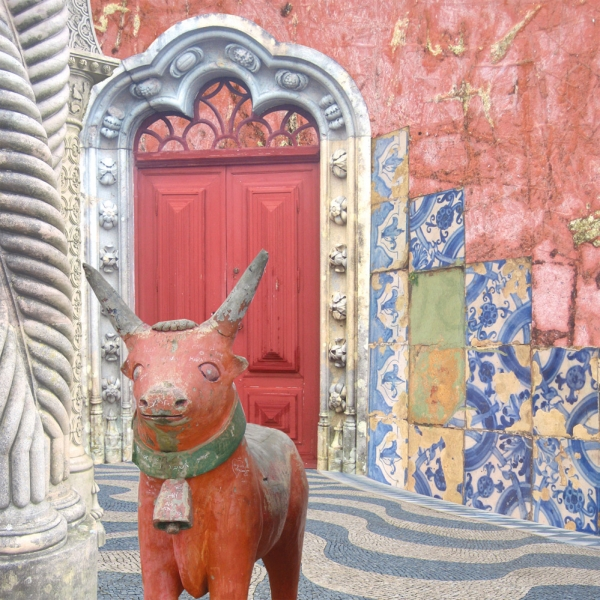 Claire Gill, Artist, Wallscape 5 Fine Art greeting card, fine art greeting card, buy art, Lisbon, Portugal