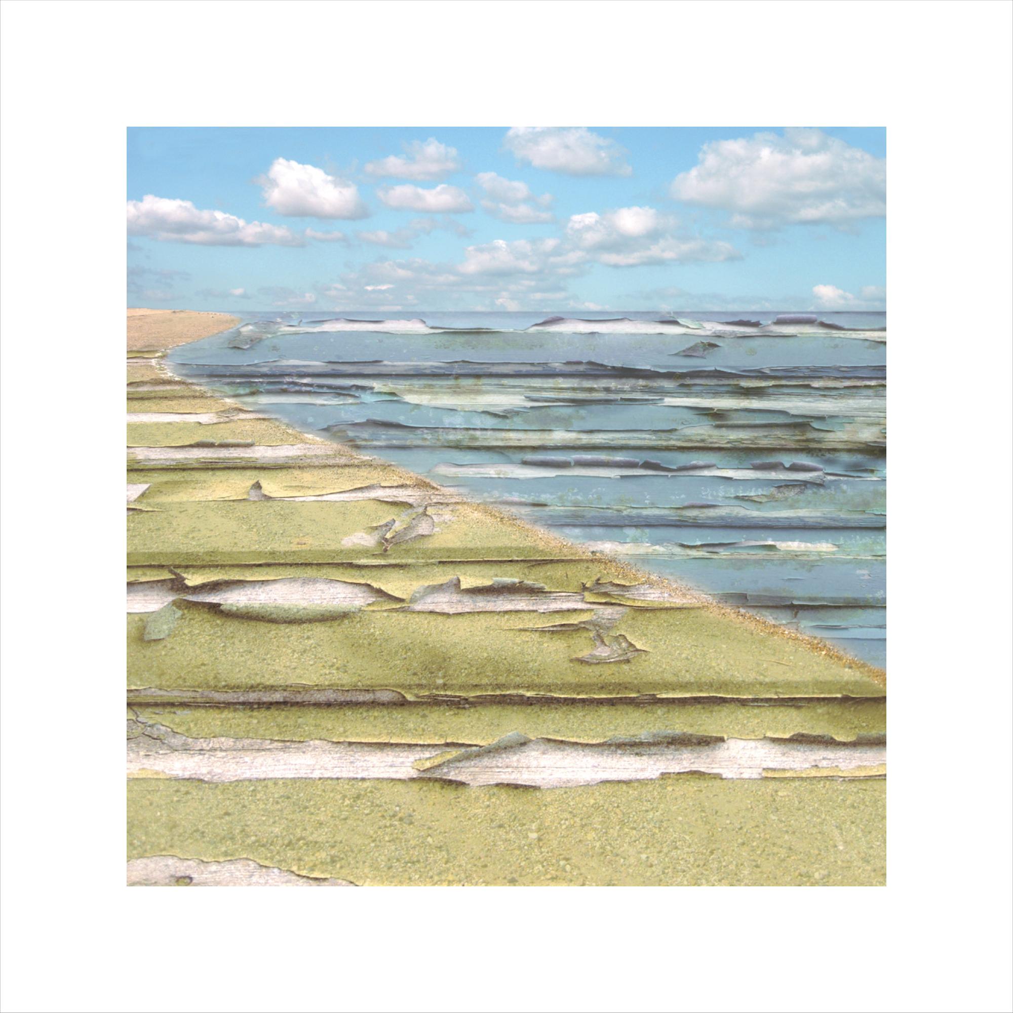 Claire Gill, Limited edition prints, digital photomontage, fine art prints, hahnemuhle, coastal art, Collect Art, seascape 4, Kand, sea, sky