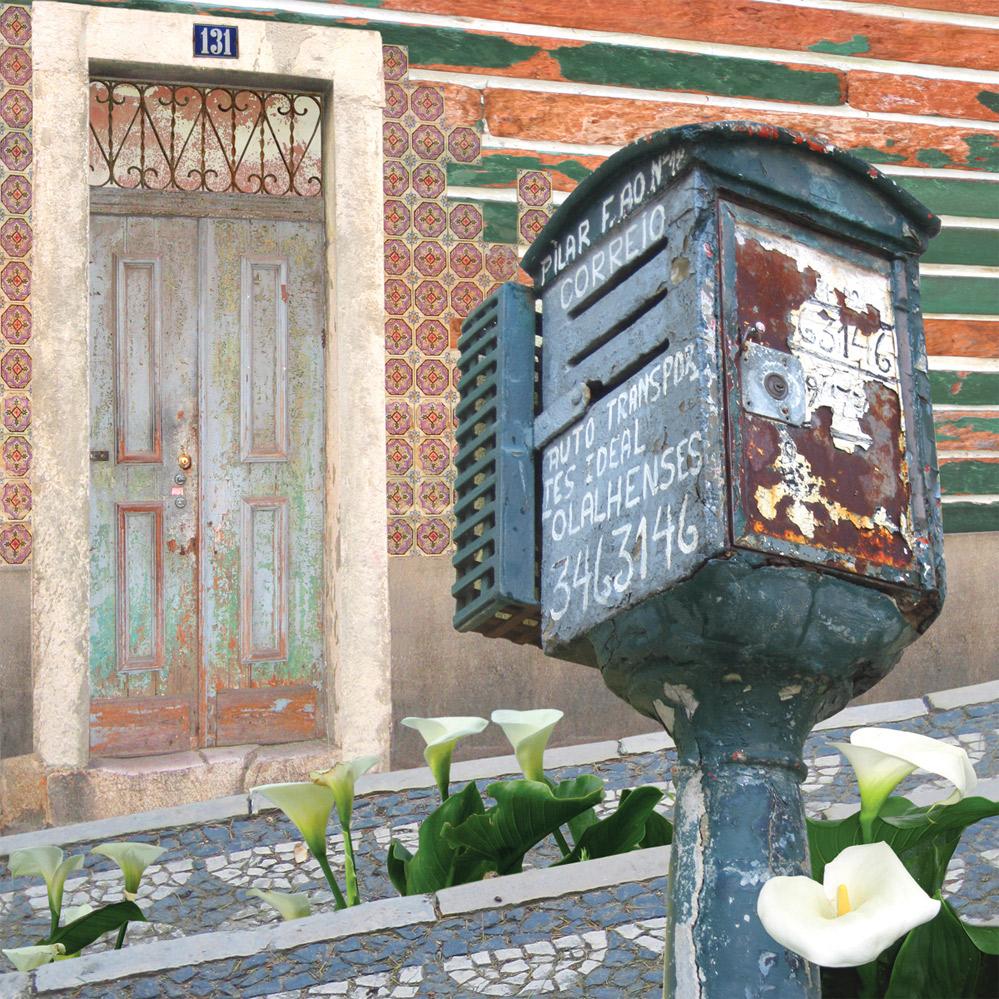 Claire Gill, Artist, Wallscape 10 Fine Art greeting card, fine art greeting card, buy art, Lisbon