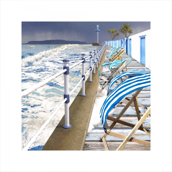 Claire Gill, digital photomontage, Limited edition print, Fine art print, collect art, seascape 26, coastal art, weymouth, portland