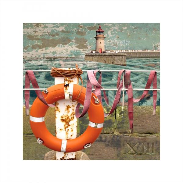 Claire Gill, Limited edition prints, digital photomontage, fine art prints, hahnemuhle, coastal art, Collect Art, seascape 31, Ramsgate, Buoy