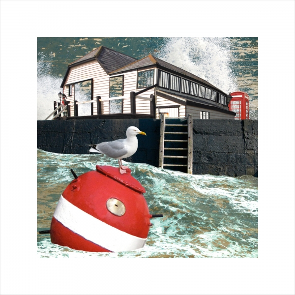 Claire Gill, Limited edition prints, digital photomontage, fine art prints, hahnemuhle, coastal art, Collect Art, seascape 41, Dickens, Bleak House, Broadstairs