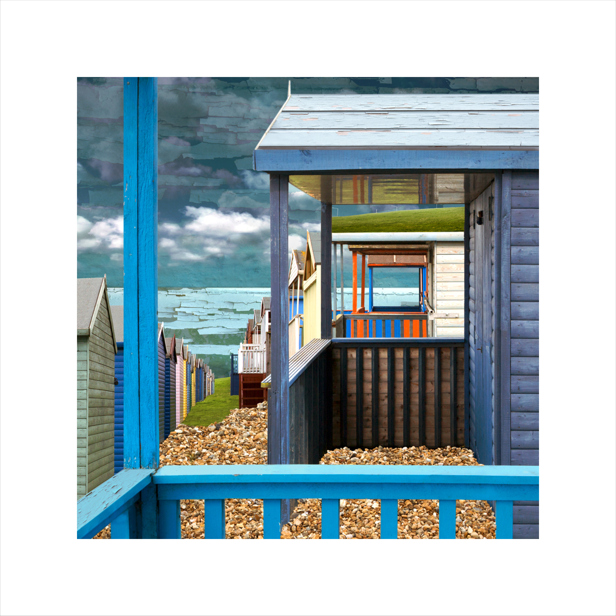 Claire Gill, Limited edition prints, digital photomontage, fine art prints, hahnemuhle, coastal art, Collect Art, seascape 44, Whitstable, Tankerton