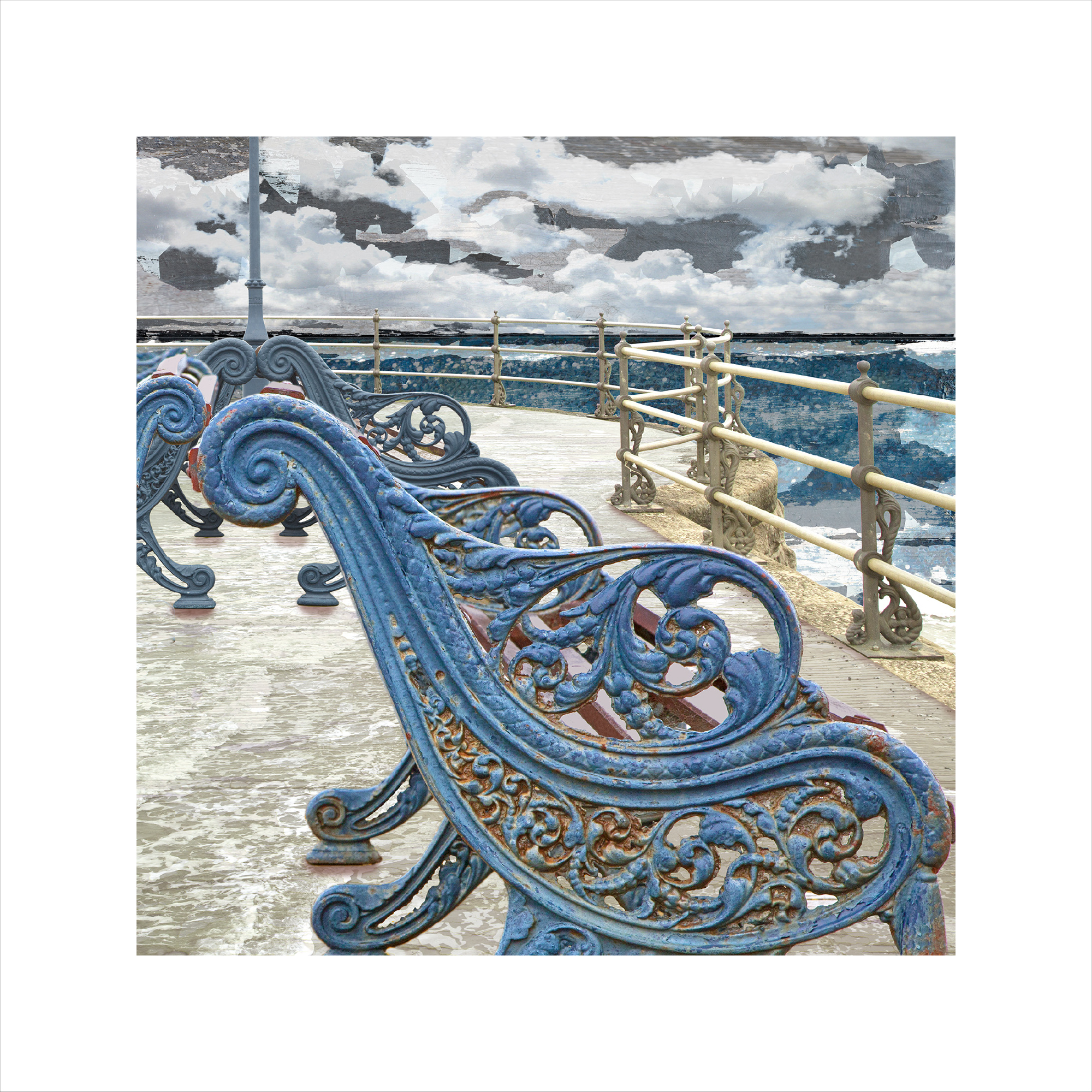 Claire Gill, Limited edition prints, digital photomontage, fine art prints, hahnemuhle, coastal art, Collect Art, seascape 48, Swanage