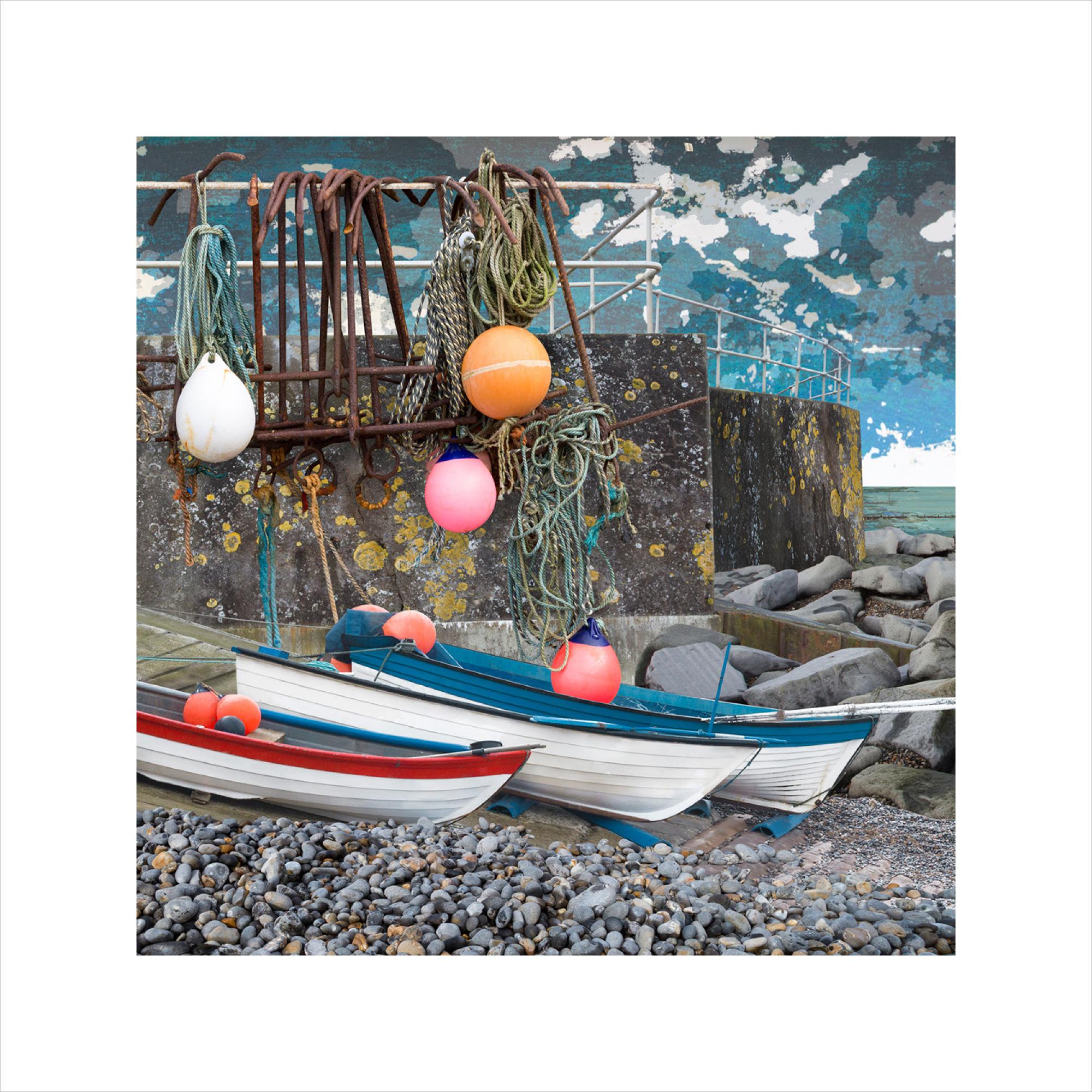 Claire Gill, Limited edition prints, digital photomontage, fine art prints, hahnemuhle, coastal art, Collect Art, seascape 55, Sheringham, North Norfolk