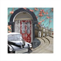 Claire Gill, Artist Claire Gill,Wallscape 4 Limited Edition Print, Limited edition print, wallscapes, buy art, collect art, digital photomontage, Norfolk, North Walsingham, Morris Minor